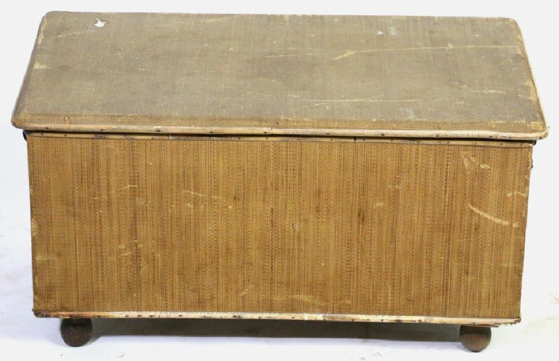 ENGLISH ANTIQUE BAMBOO TRUNK - 6