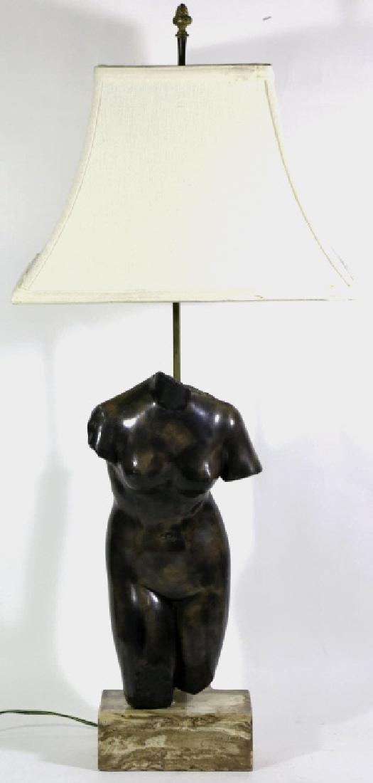 MID-CENTURY MODERN GREEK TORSO FIGURAL LAMP