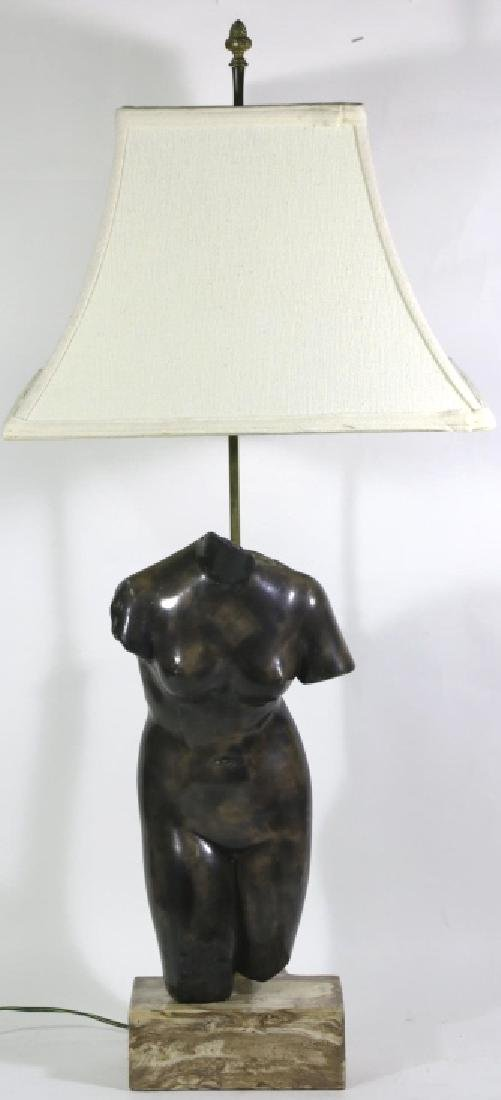 MID-CENTURY MODERN GREEK TORSO FIGURAL LAMP - 3