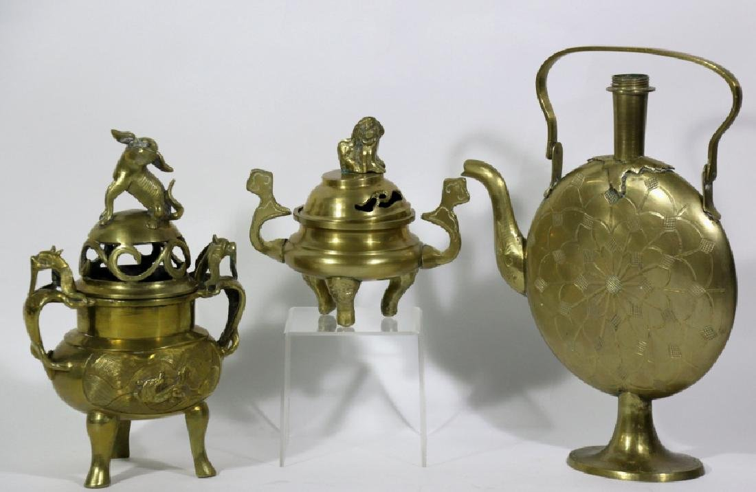 CHINESE MID-CENUTRY MODERN BRASS GROUPING