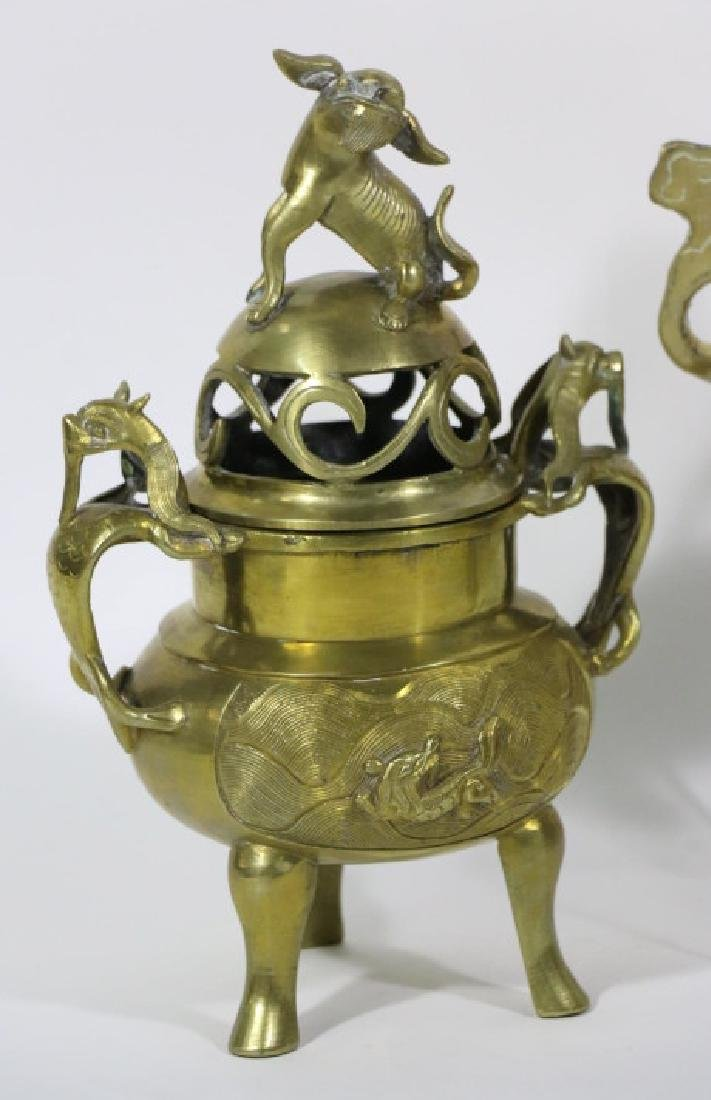 CHINESE MID-CENUTRY MODERN BRASS GROUPING - 3
