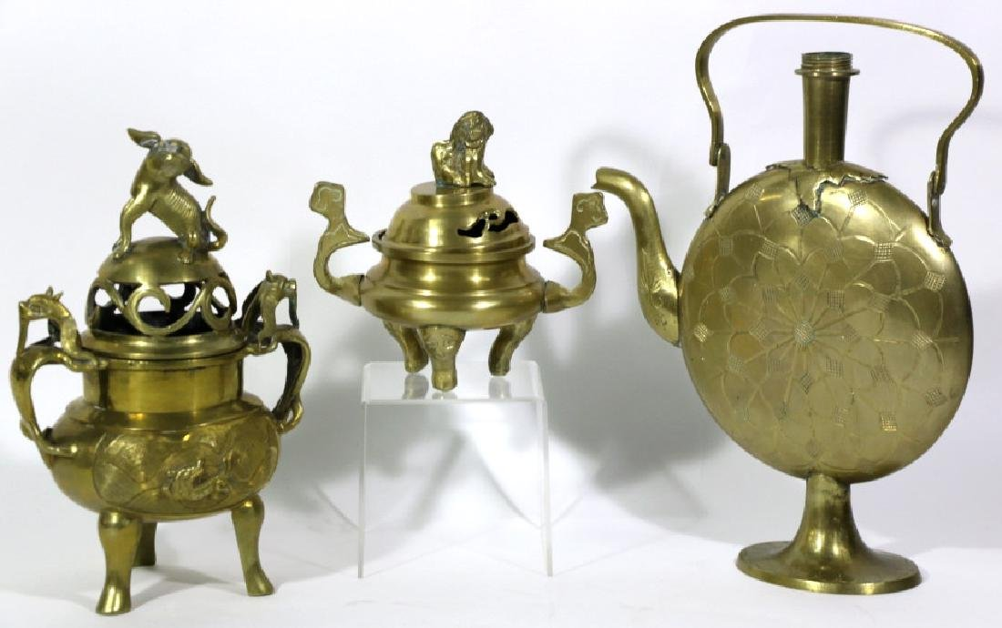 CHINESE MID-CENUTRY MODERN BRASS GROUPING - 6