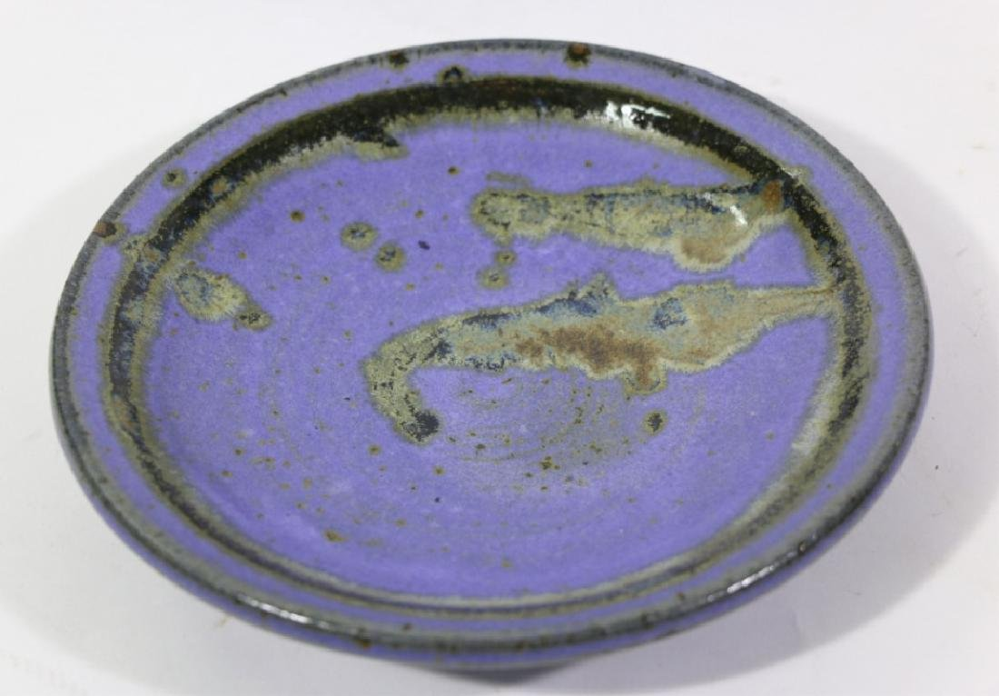 MID-CENTURY MODERN SIGNED POTTERY CHARGER
