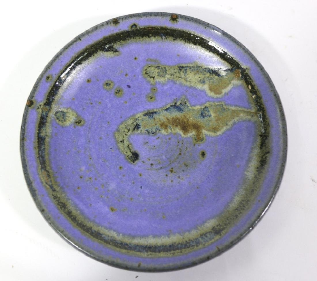 MID-CENTURY MODERN SIGNED POTTERY CHARGER - 2