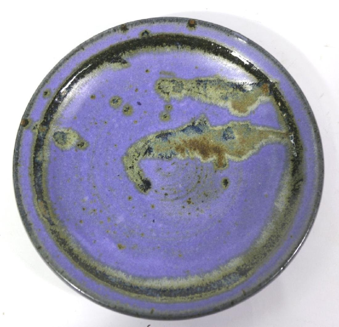 MID-CENTURY MODERN SIGNED POTTERY CHARGER - 3