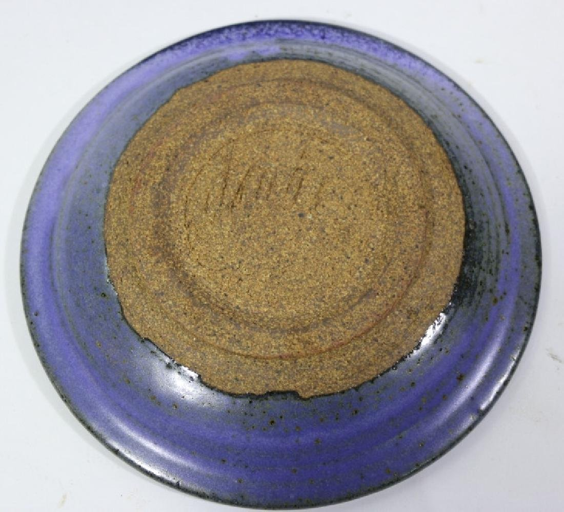 MID-CENTURY MODERN SIGNED POTTERY CHARGER - 4