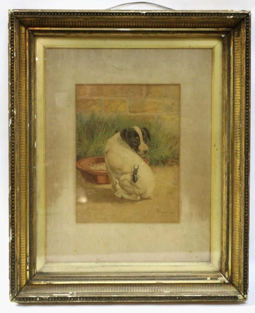 EDMUND CALDWELL (1852-1930) WATERCOLOR 1891