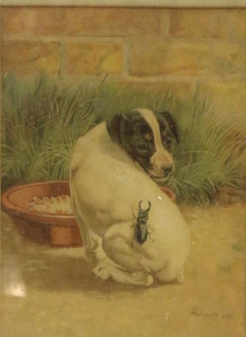 EDMUND CALDWELL (1852-1930) WATERCOLOR 1891 - 2