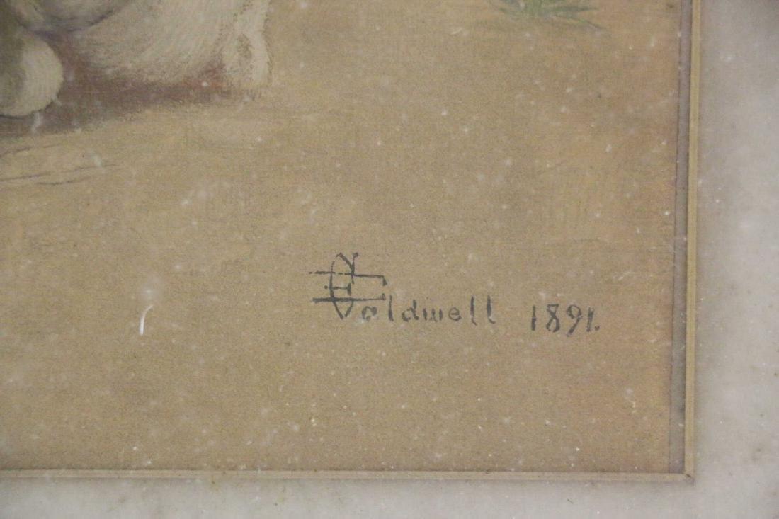 EDMUND CALDWELL (1852-1930) WATERCOLOR 1891 - 4