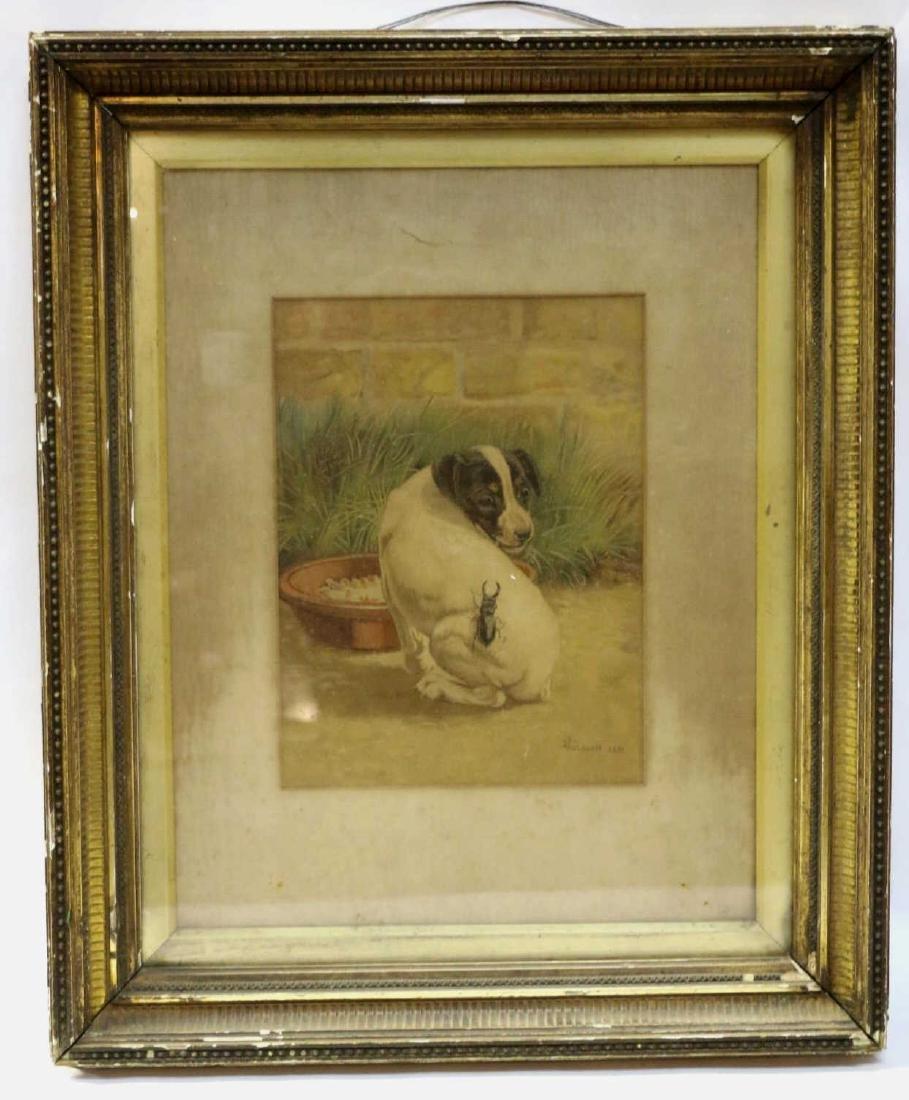 EDMUND CALDWELL (1852-1930) WATERCOLOR 1891 - 8