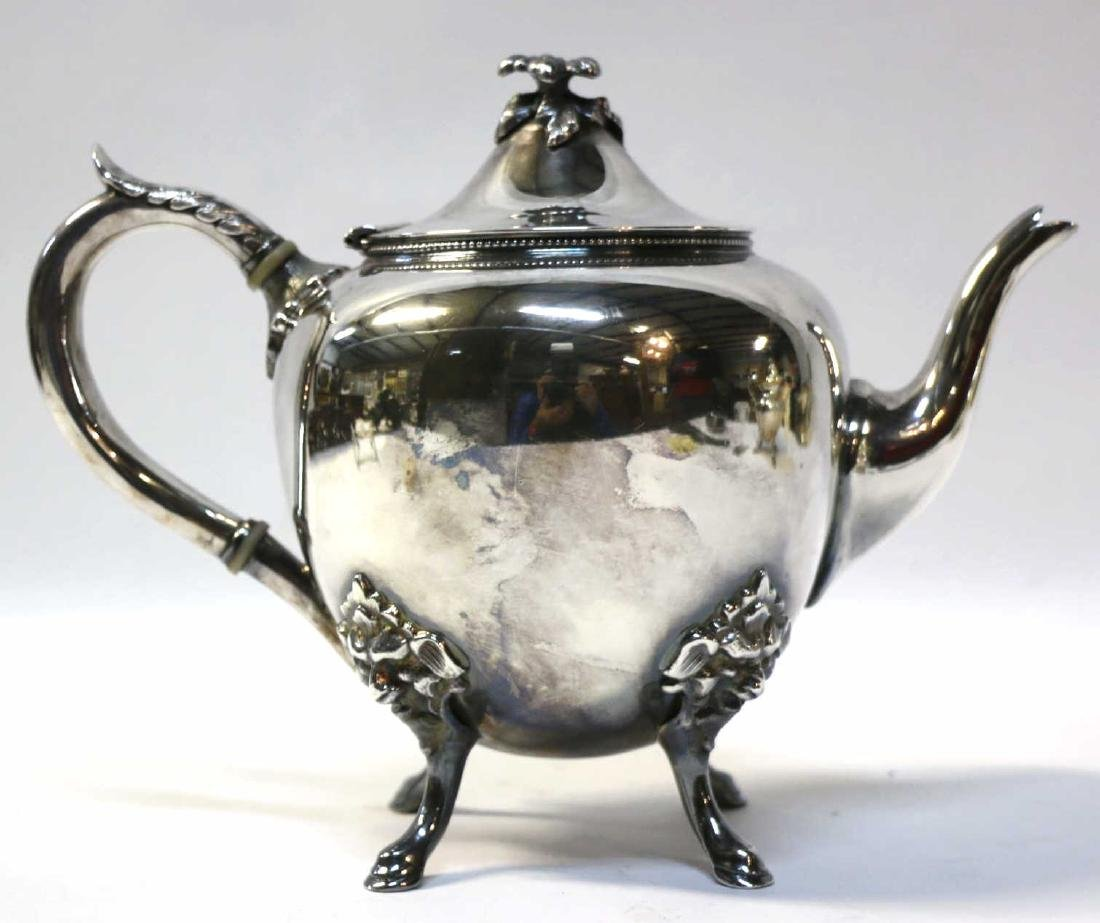 VICTORIAN SILVERPLATE TEA/ COFFEE POT