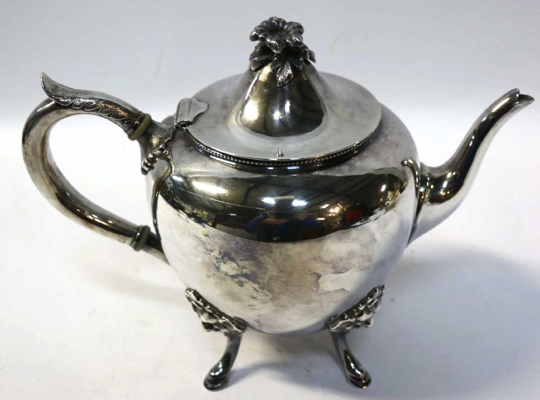 VICTORIAN SILVERPLATE TEA/ COFFEE POT - 5