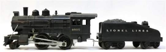 LIONEL STEAM ENGINE #8500 & TENDER