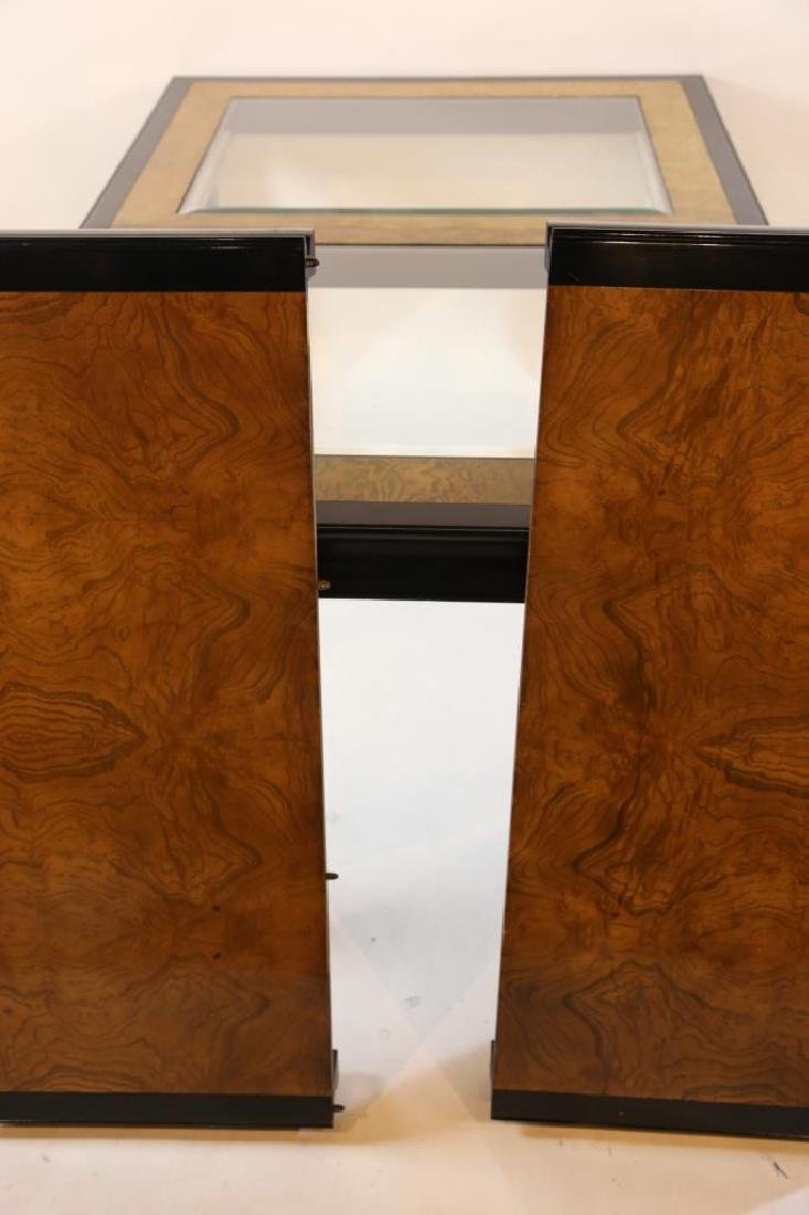 MID CENTURY MODERN BURL DINING TABLE  BY CENTURY - 8