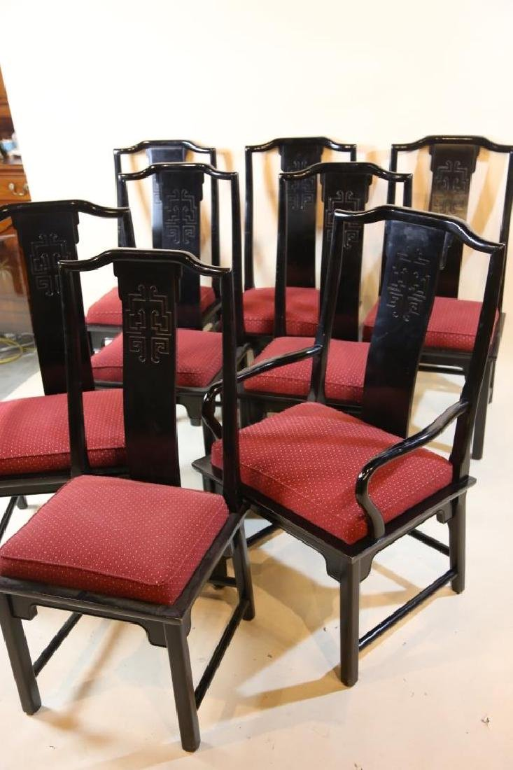 MID CENTURY MODERN BURL DINING CHAIRS BY CENTURY - 5