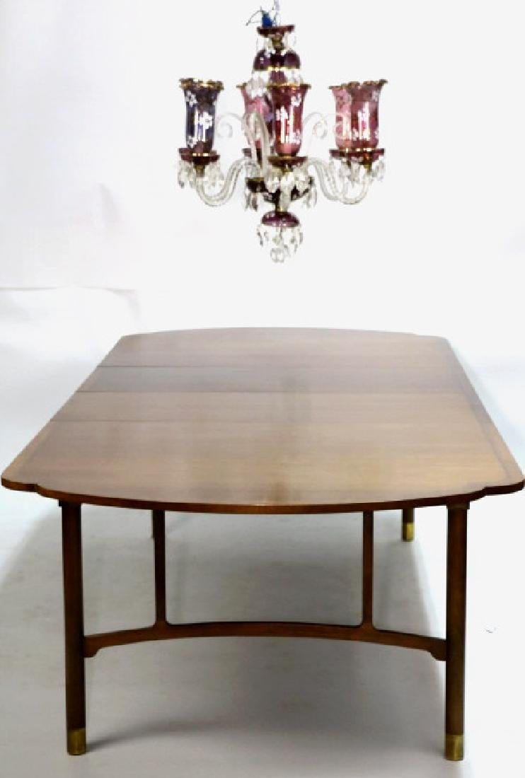 MID-CENTURY MODERN 10' BANDED DINING TABLE