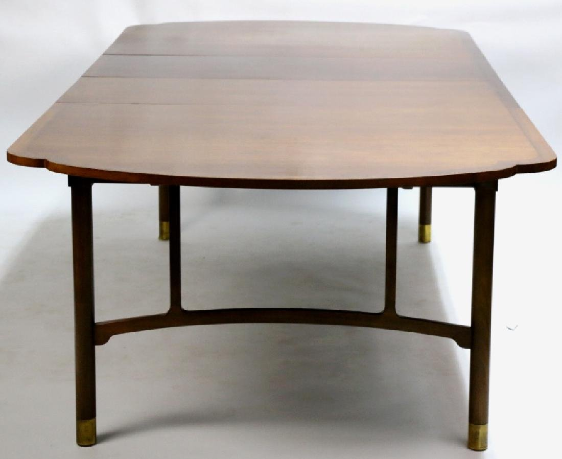 MID-CENTURY MODERN 10' BANDED DINING TABLE - 7