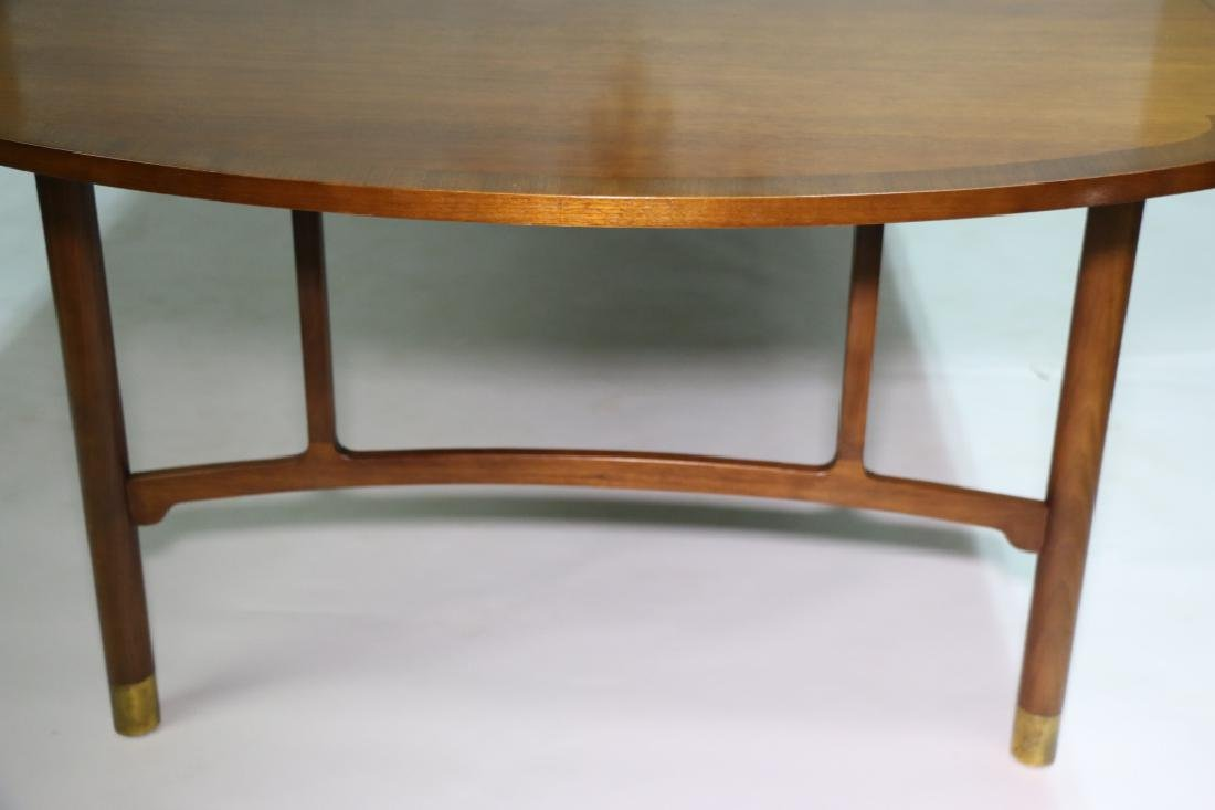 MID-CENTURY MODERN 10' BANDED DINING TABLE - 8