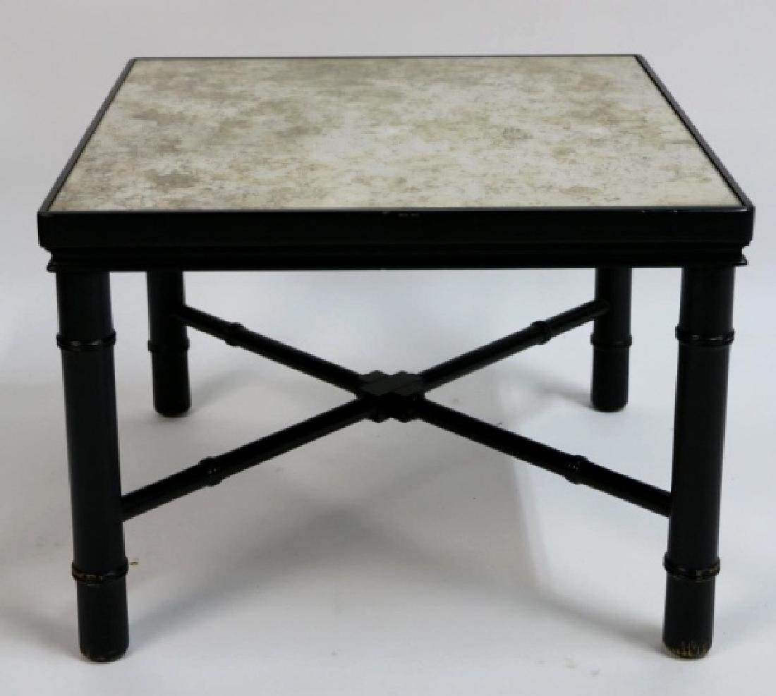 MID-CENTURY MODERN METAL WORK & STONE TABLE
