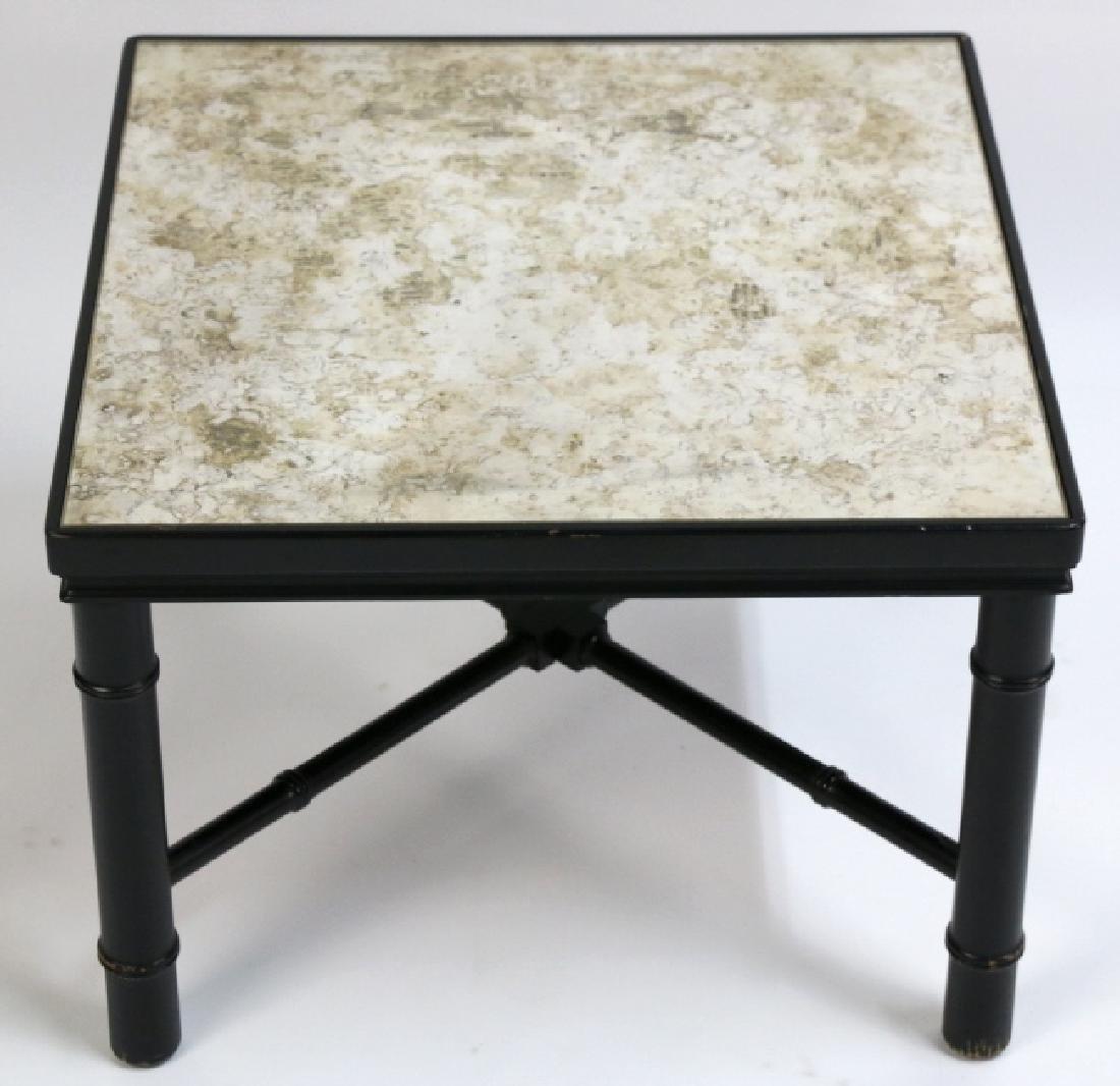 MID-CENTURY MODERN METAL WORK & STONE TABLE - 2