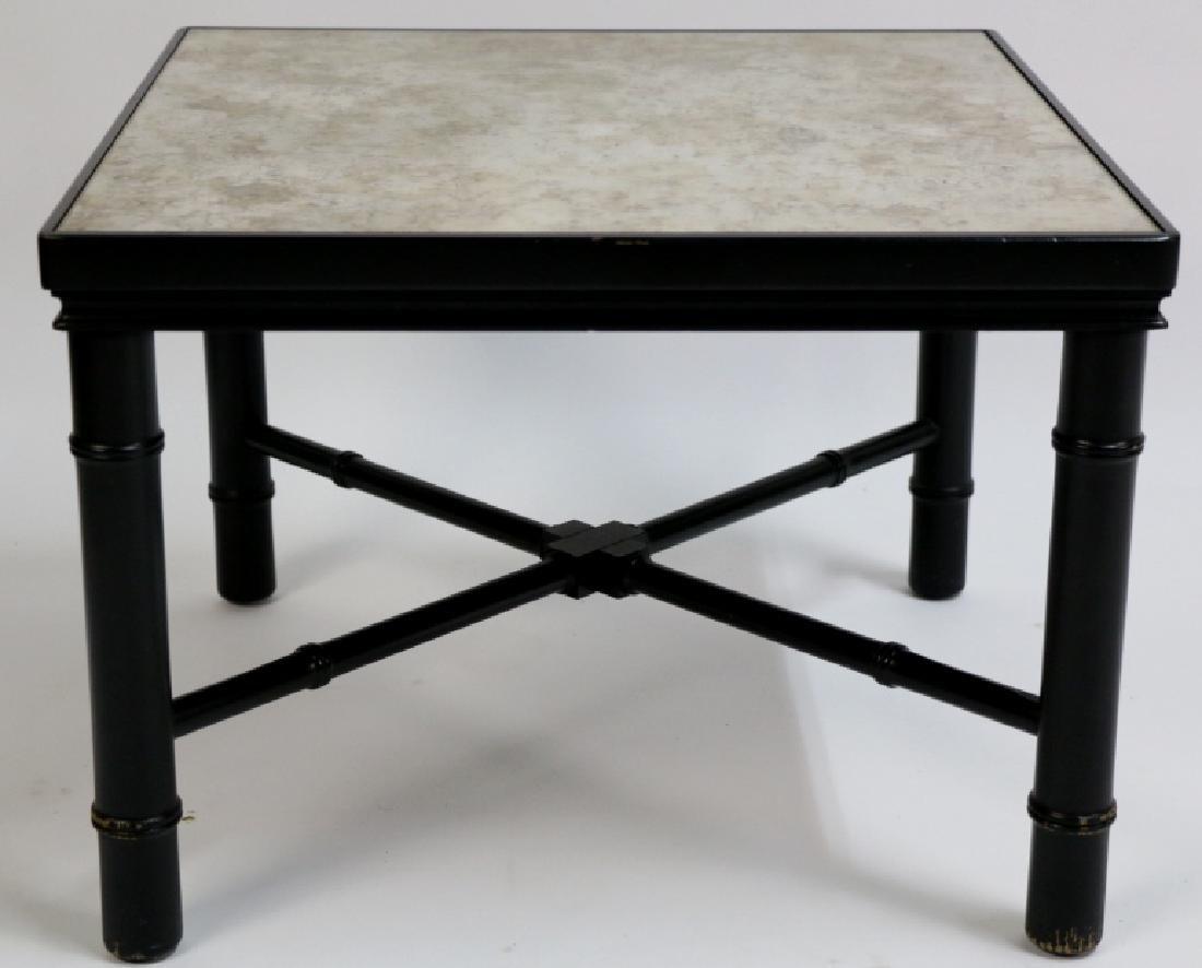 MID-CENTURY MODERN METAL WORK & STONE TABLE - 3