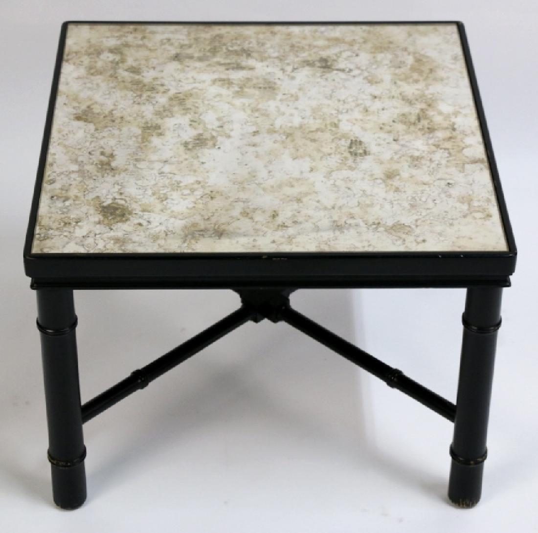 MID-CENTURY MODERN METAL WORK & STONE TABLE - 5