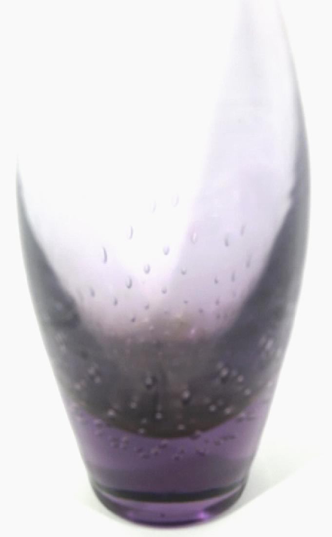 MID-CENTURY MODERN ART GLASS BUD VASE - 4