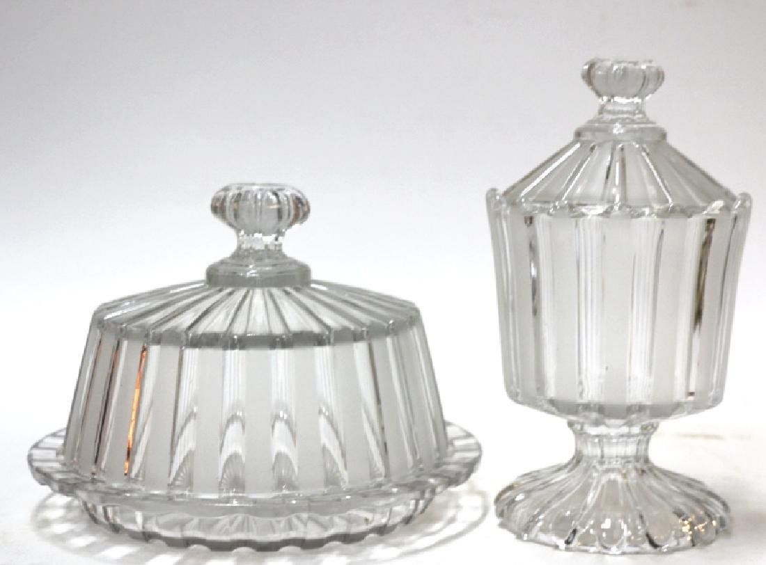 ANTIQUE PRESSED GLASS GROUPING - 2