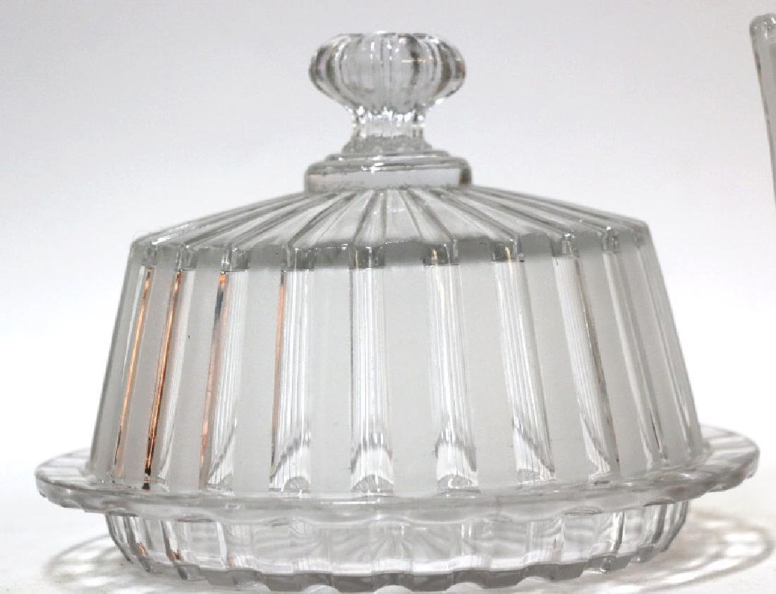 ANTIQUE PRESSED GLASS GROUPING - 4