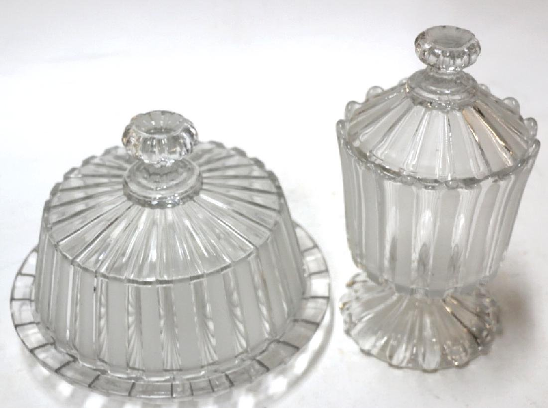 ANTIQUE PRESSED GLASS GROUPING - 5