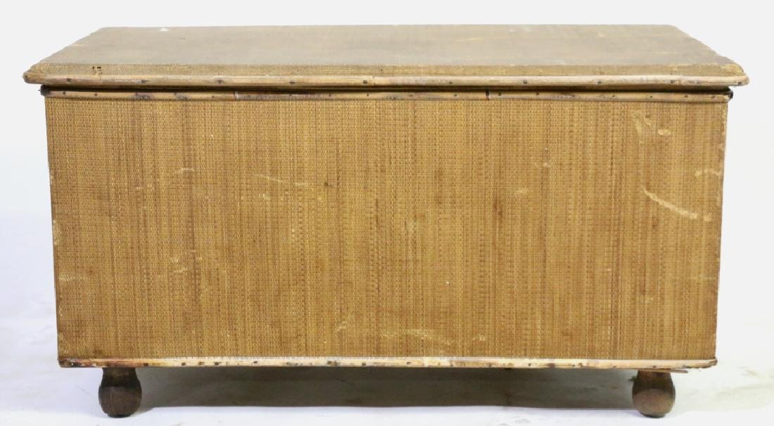 ENGLISH ANTIQUE BAMBOO TRUNK - 4