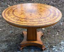 MAITLAND SMITH FINE INLAID GRAND CENTER TABLE