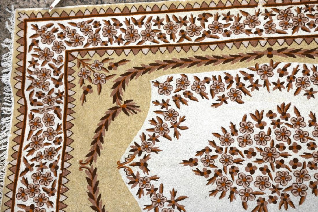 INDIAN CHAIN STITCH HAND WOVEN RUG - 2
