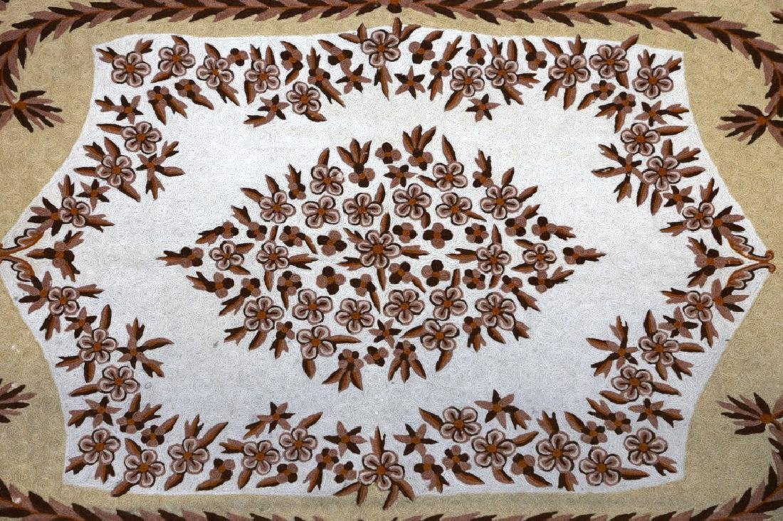 INDIAN CHAIN STITCH HAND WOVEN RUG - 3