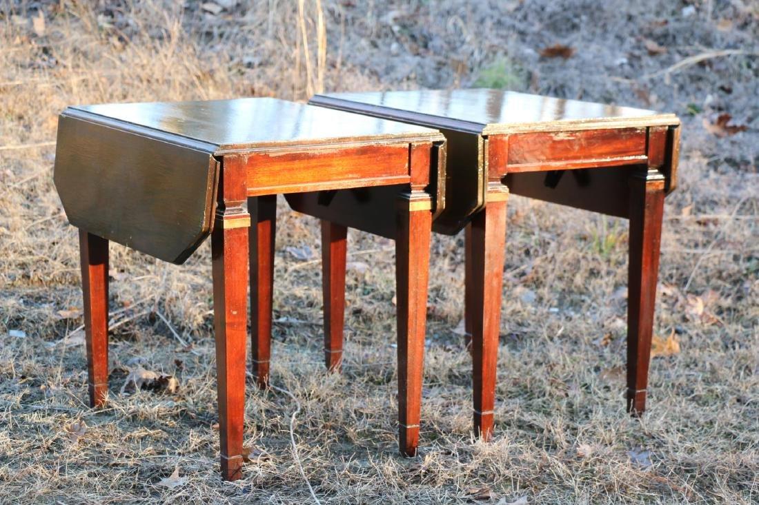 BRANDT VINTAGE MAHOGANY PEMBROKE DROPSIDE TABLES - 10