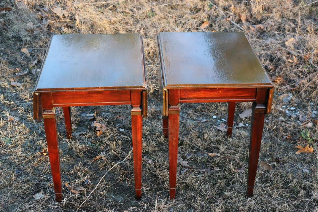 BRANDT VINTAGE MAHOGANY PEMBROKE DROPSIDE TABLES - 3