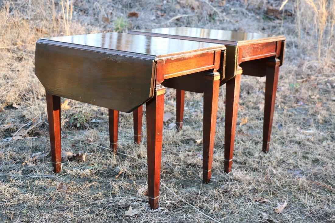 BRANDT VINTAGE MAHOGANY PEMBROKE DROPSIDE TABLES - 4