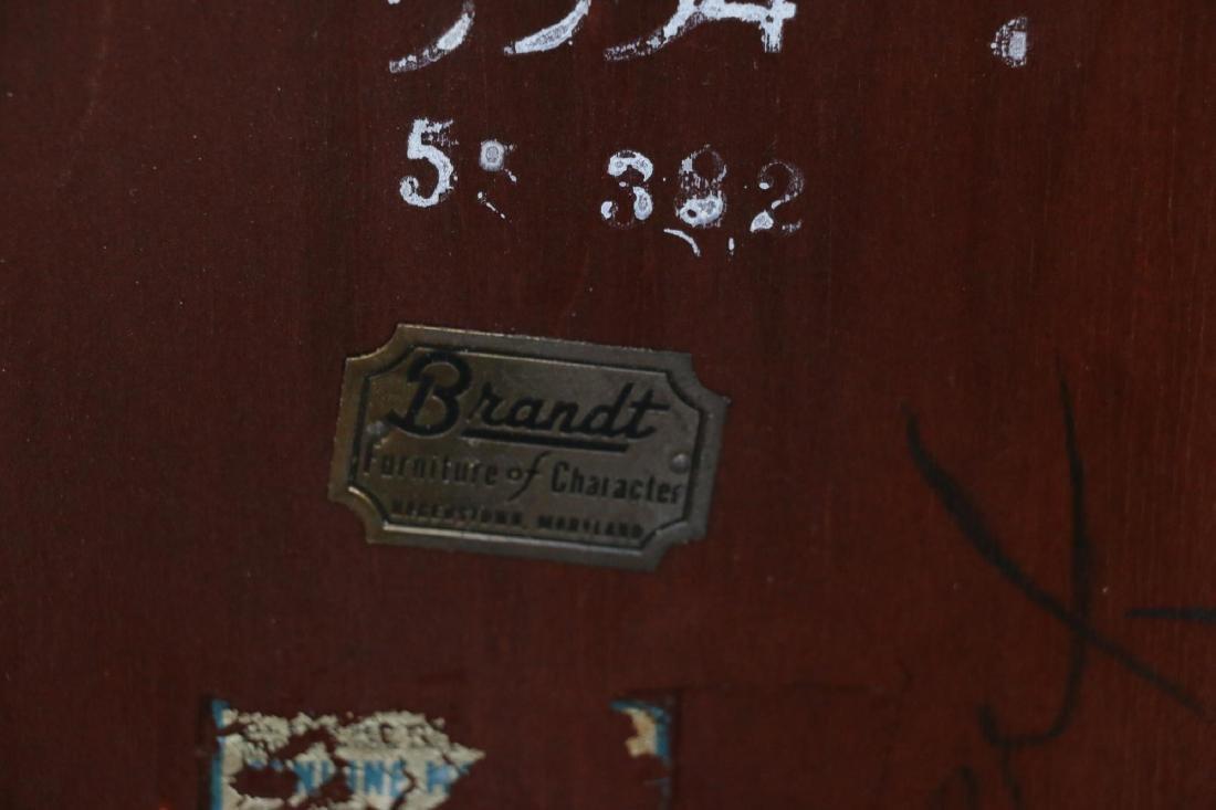 BRANDT VINTAGE MAHOGANY PEMBROKE DROPSIDE TABLES - 5