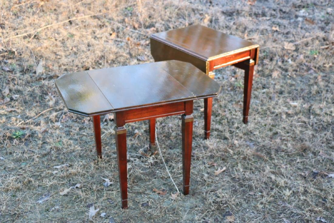 BRANDT VINTAGE MAHOGANY PEMBROKE DROPSIDE TABLES - 6