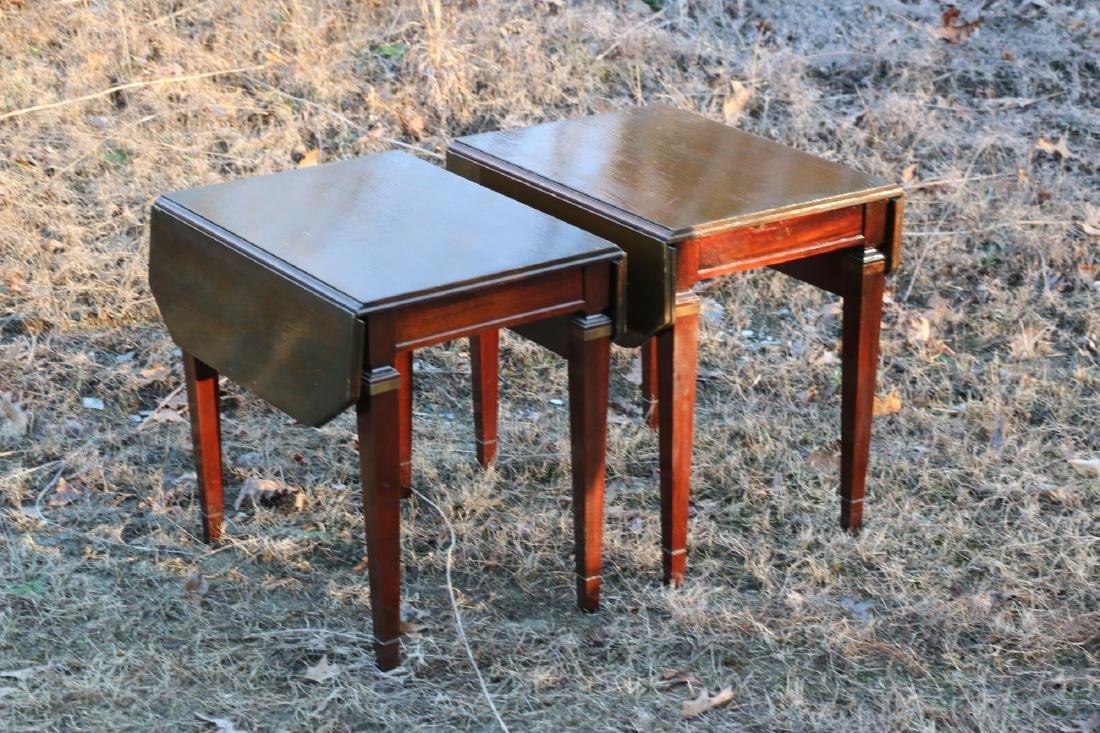 BRANDT VINTAGE MAHOGANY PEMBROKE DROPSIDE TABLES - 7