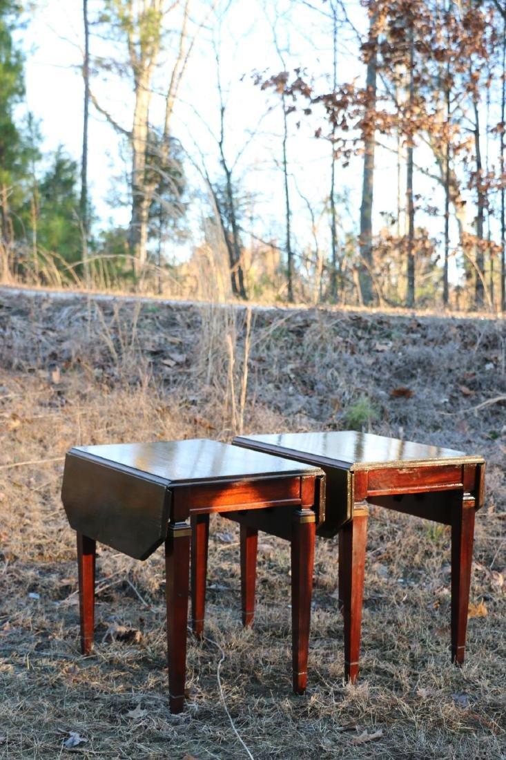 BRANDT VINTAGE MAHOGANY PEMBROKE DROPSIDE TABLES - 8