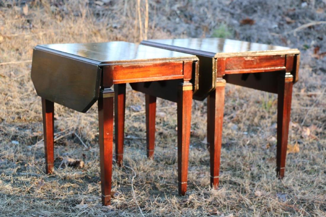 BRANDT VINTAGE MAHOGANY PEMBROKE DROPSIDE TABLES - 9
