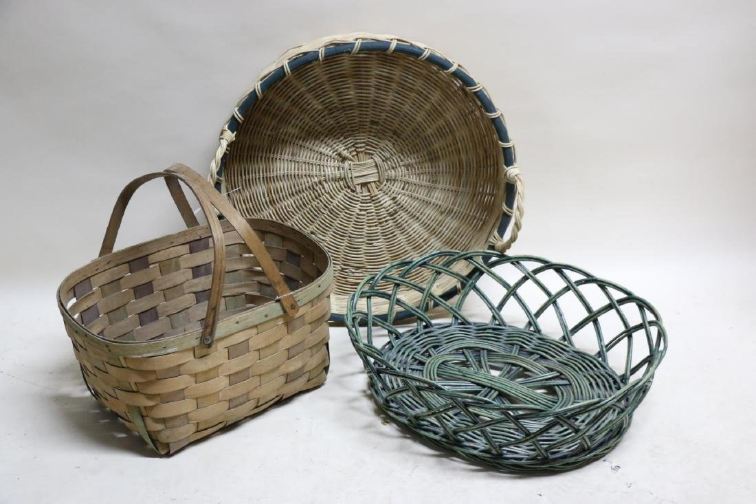 ANTIQUE BASKET GROUPING - 2