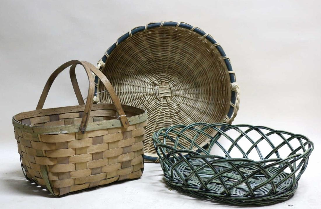 ANTIQUE BASKET GROUPING - 3