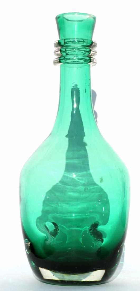 EMERALD ART GLASS DECANTER