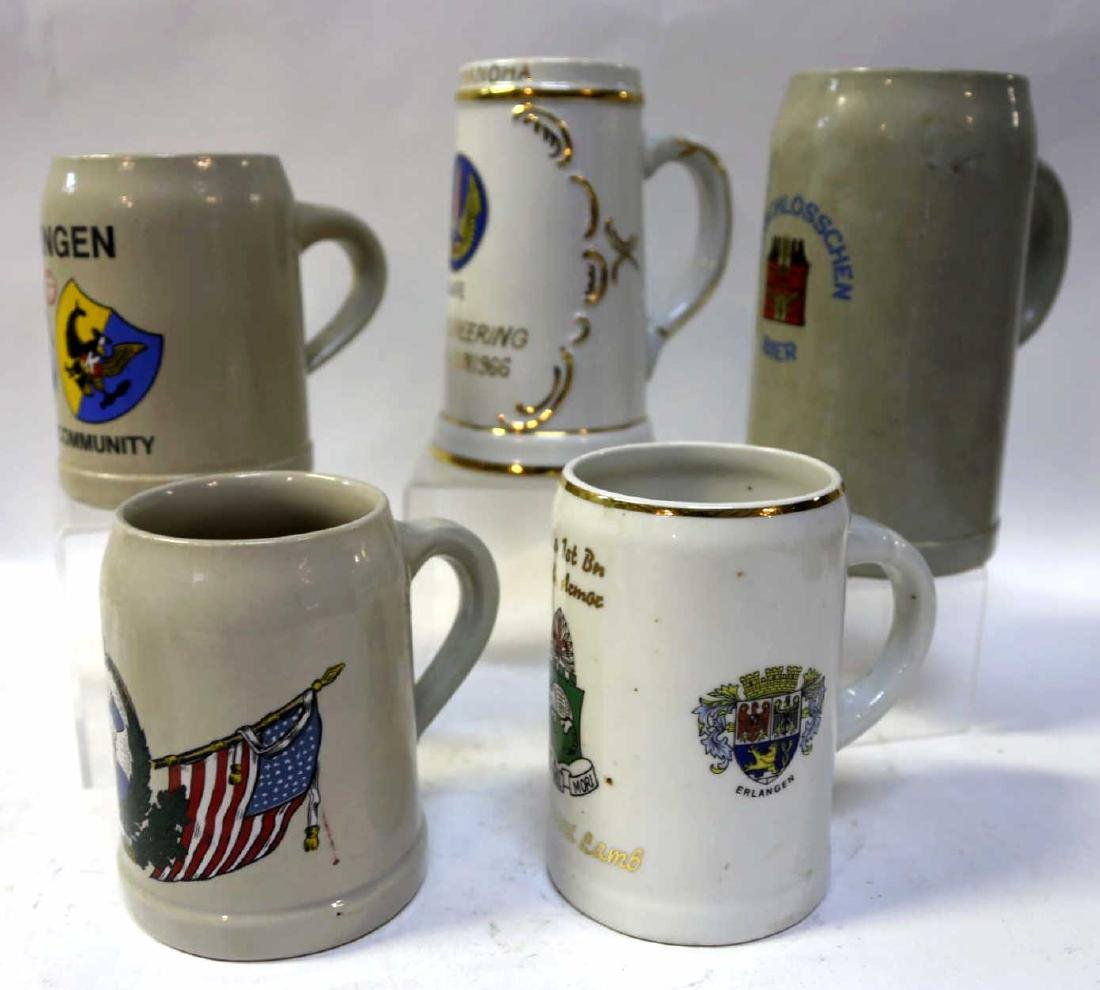 MILITARY VINTAGE  BEER STEIN GROUPING - 2