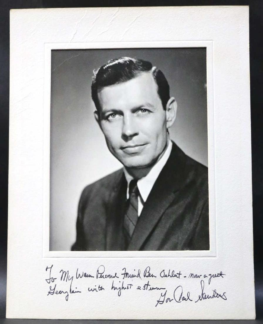 GEORGIA GOVERNOR CARL SANDERS SIGNED PHOTOGRAPH