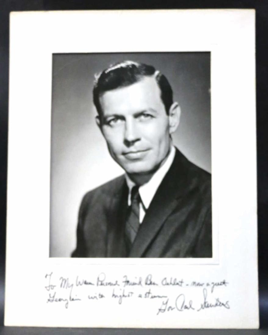 GEORGIA GOVERNOR CARL SANDERS SIGNED PHOTOGRAPH - 5
