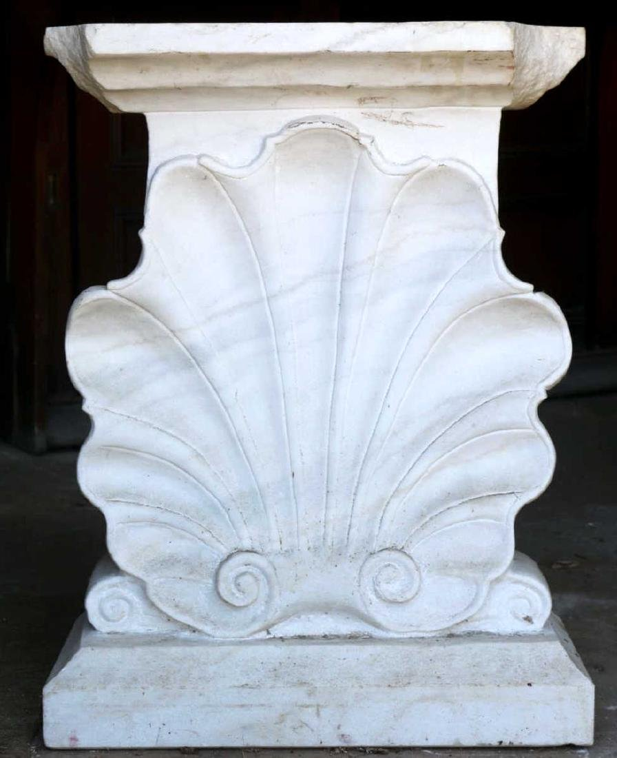 ANTIQUE SHELL FORM MARBLE CONSOLE