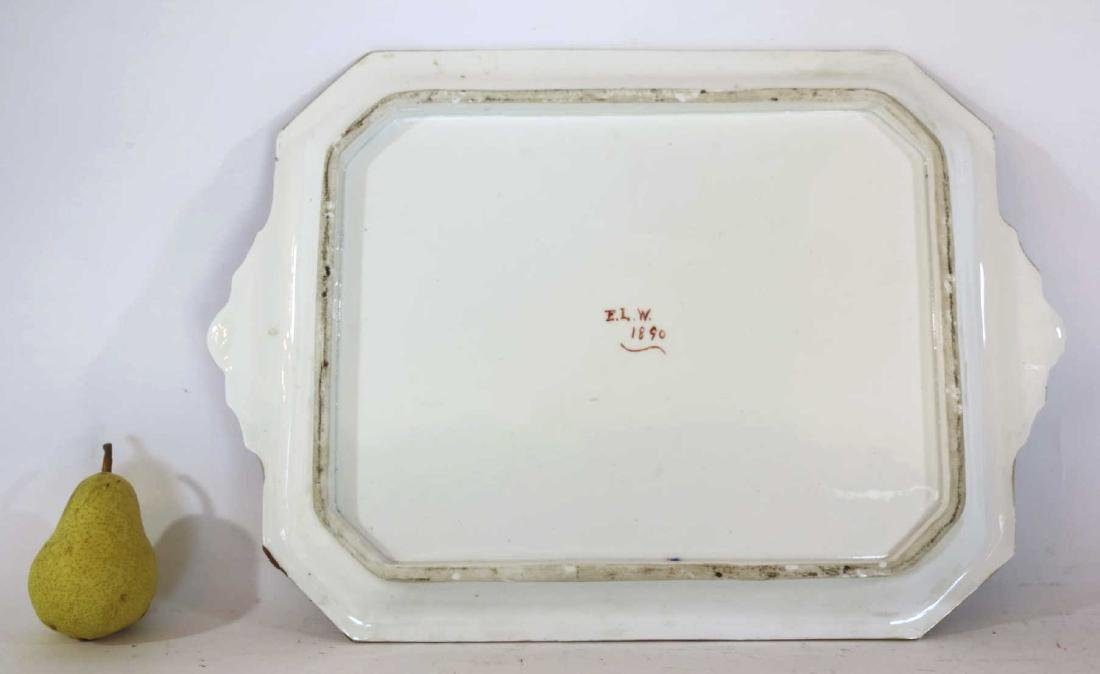 ENGLISH ANTIQUE IRONSTONE PLATTER C 1890 - 2